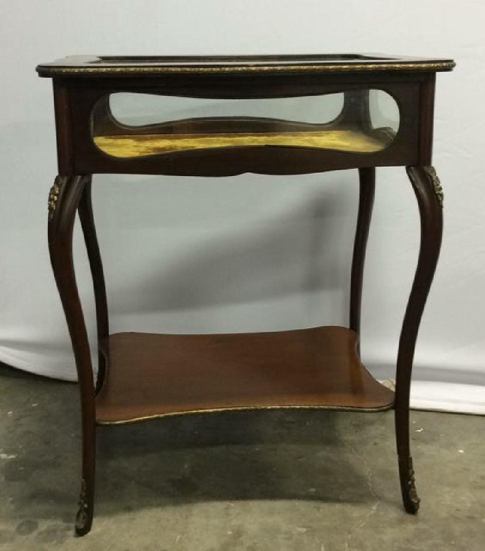 Louis XIV Style Side Table Vitrine - 3