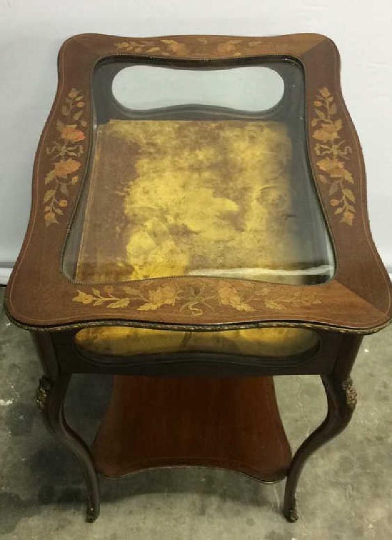 Louis XIV Style Side Table Vitrine - 5