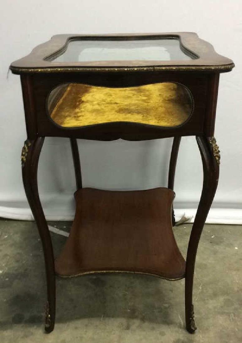 Louis XIV Style Side Table Vitrine - 6