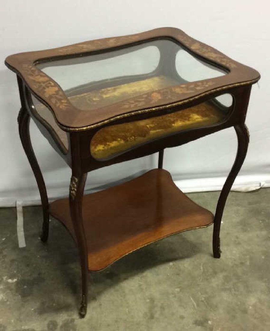 Louis XIV Style Side Table Vitrine - 8