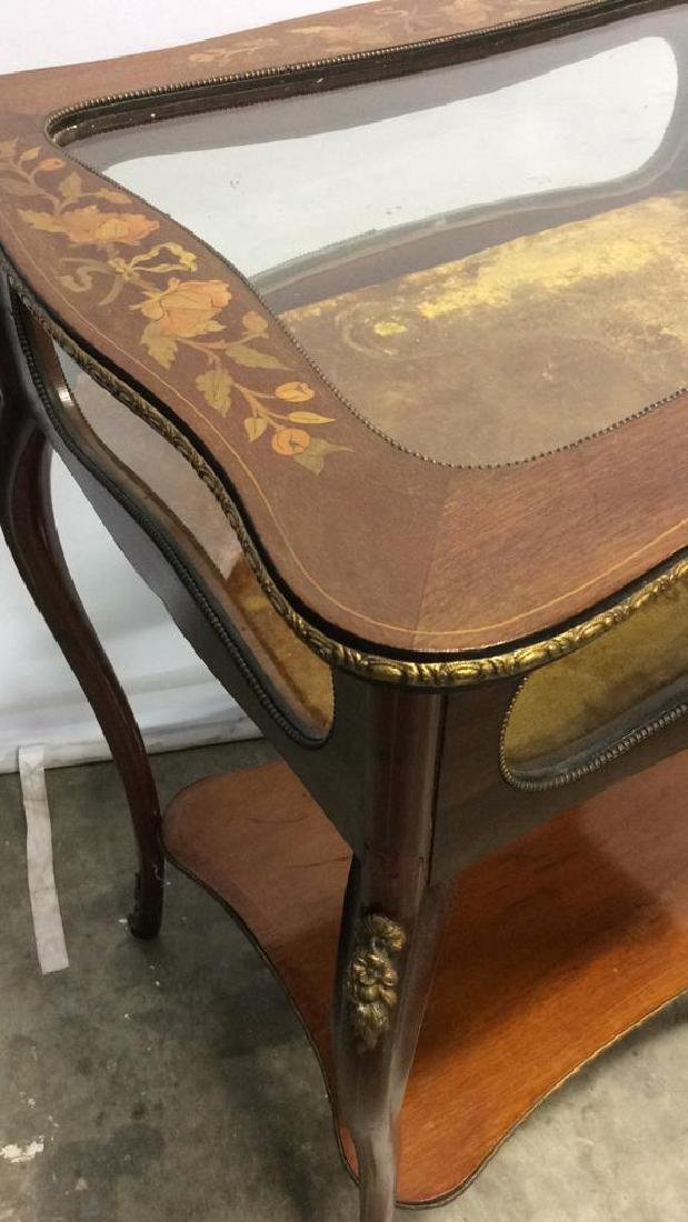 Louis XIV Style Side Table Vitrine - 9