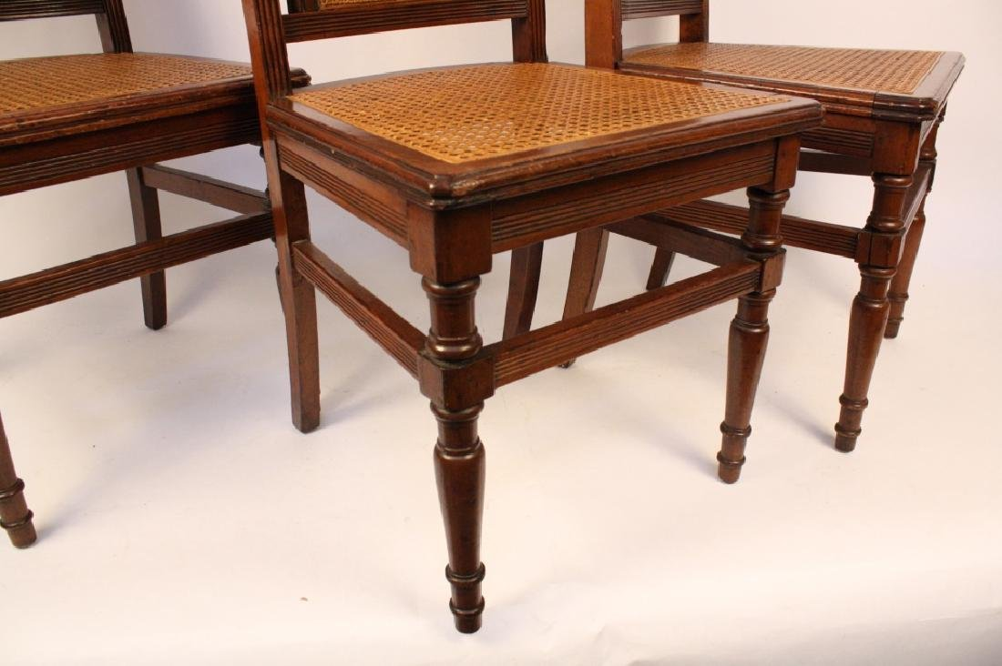 6 Cane Seat Mahogany side chairs with Fluted Legs - 2