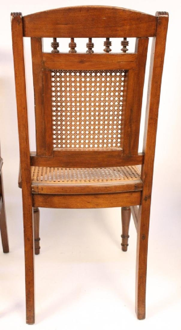 6 Cane Seat Mahogany side chairs with Fluted Legs - 7