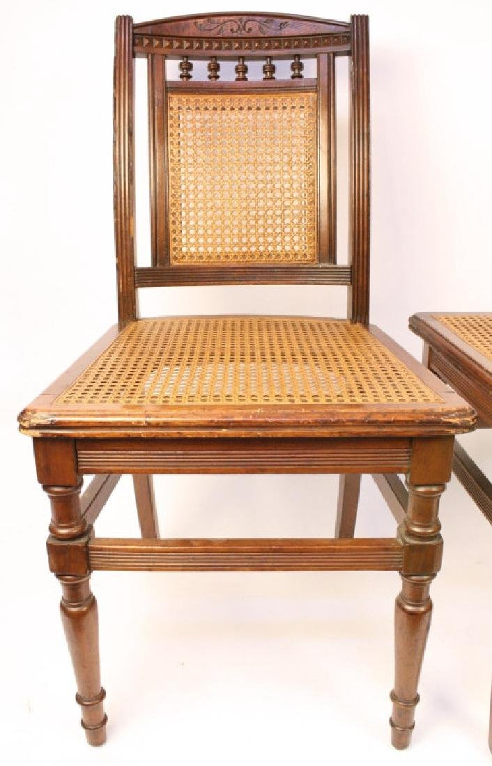 6 Cane Seat Mahogany side chairs with Fluted Legs - 8