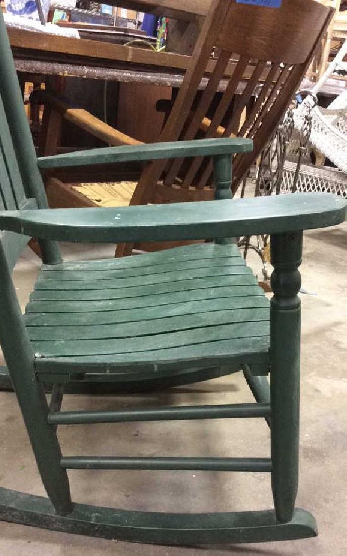 Painted Green Outdoor Rocking Chair - 10