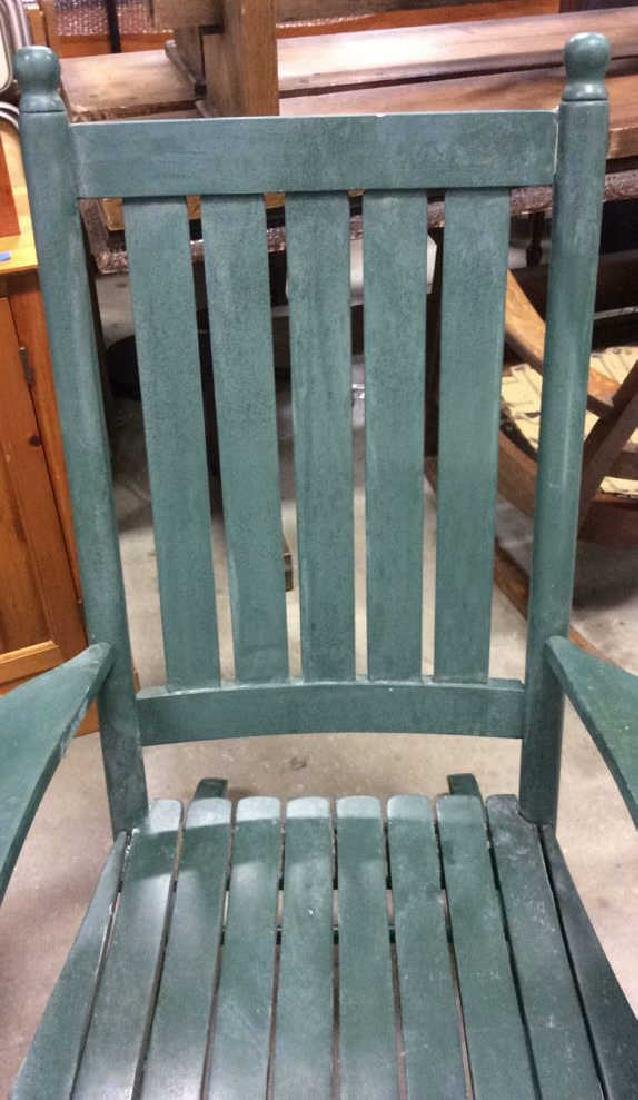 Painted Green Outdoor Rocking Chair - 3