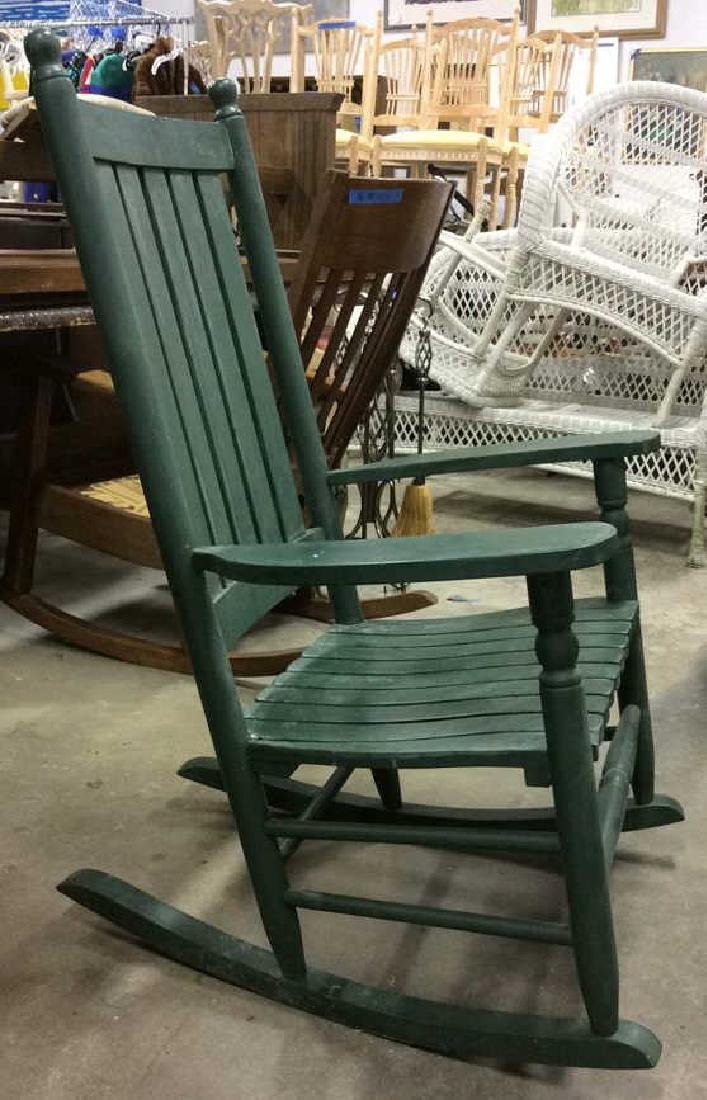Painted Green Outdoor Rocking Chair - 4