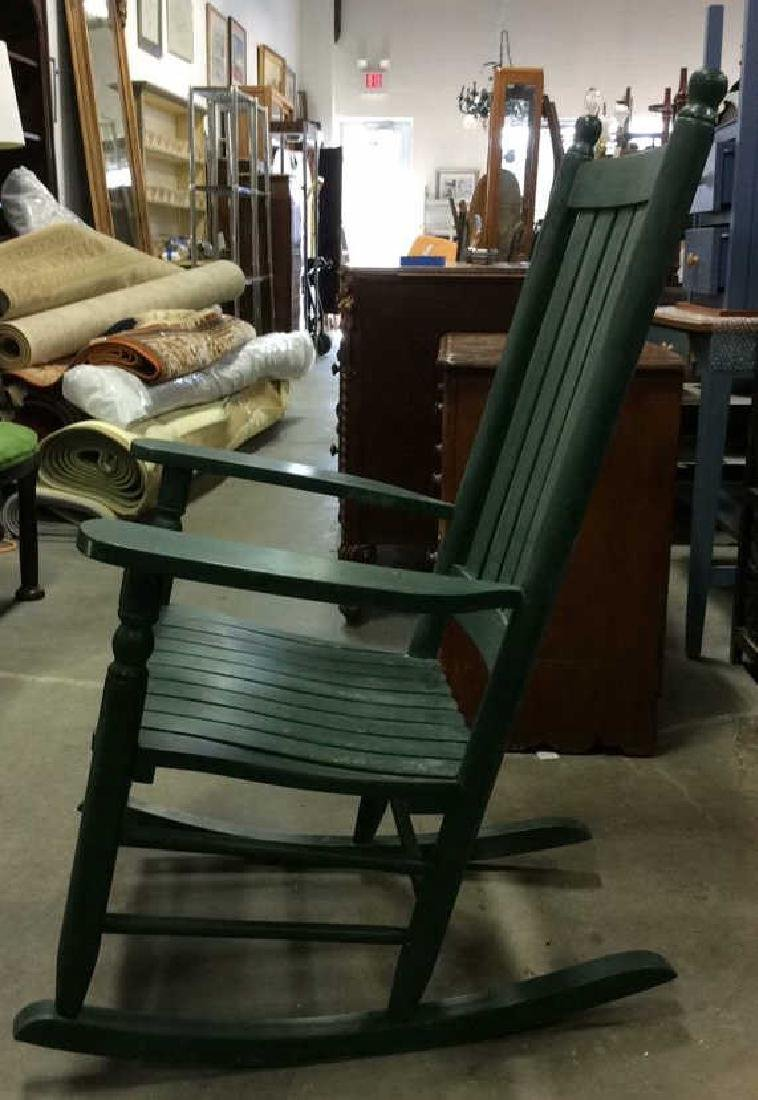 Painted Green Outdoor Rocking Chair - 6