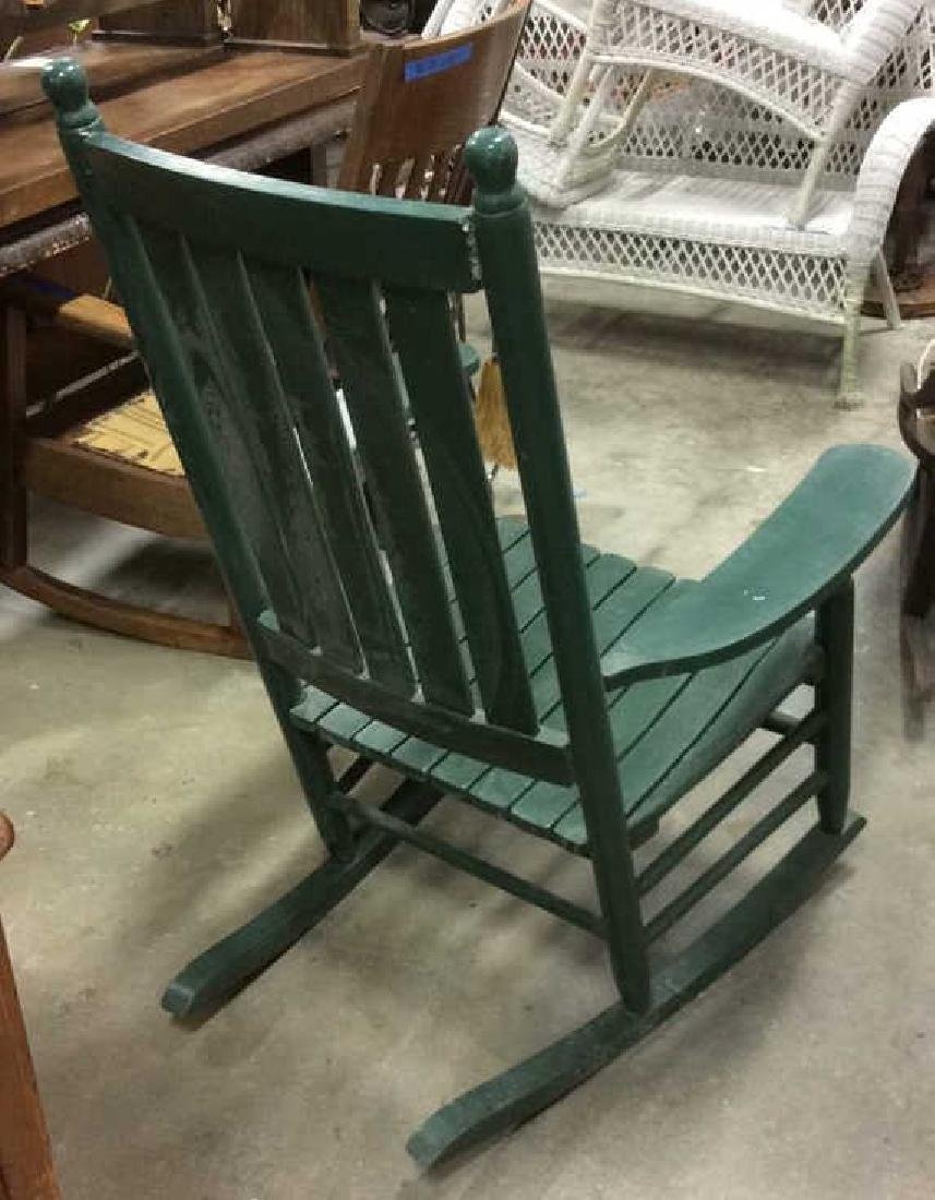Painted Green Outdoor Rocking Chair - 9