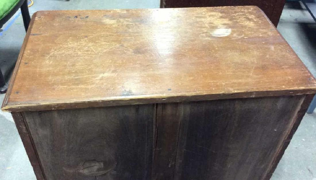 Antique Pine Wood Dresser Commode - 9