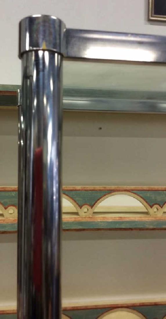 Pair Chrome Glass Etageres - 3