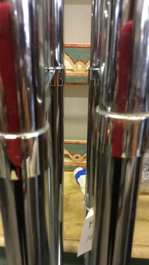 Pair Chrome Glass Etageres - 4