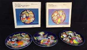 Set Of Bjorn Wiinblad Rosenthal Plates