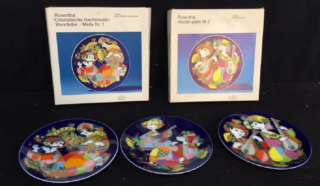 Set Of Bjorn Wiinblad Rosenthal Plates