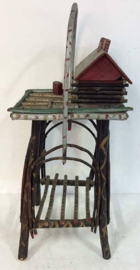 Adirondack Twig Cigarette Table Hand Painted - 6