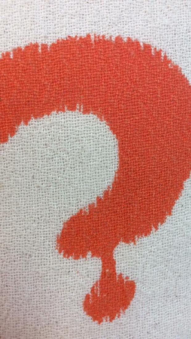 Pair Orange Gray White Ikat Design Pillows - 7