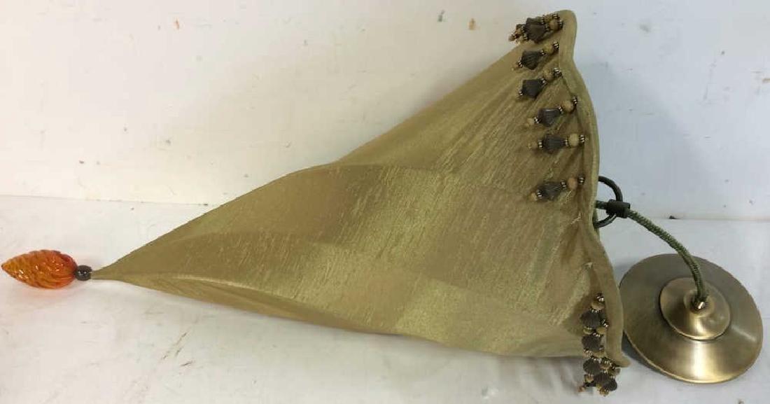 Gold Silk Cone Ceiling Light