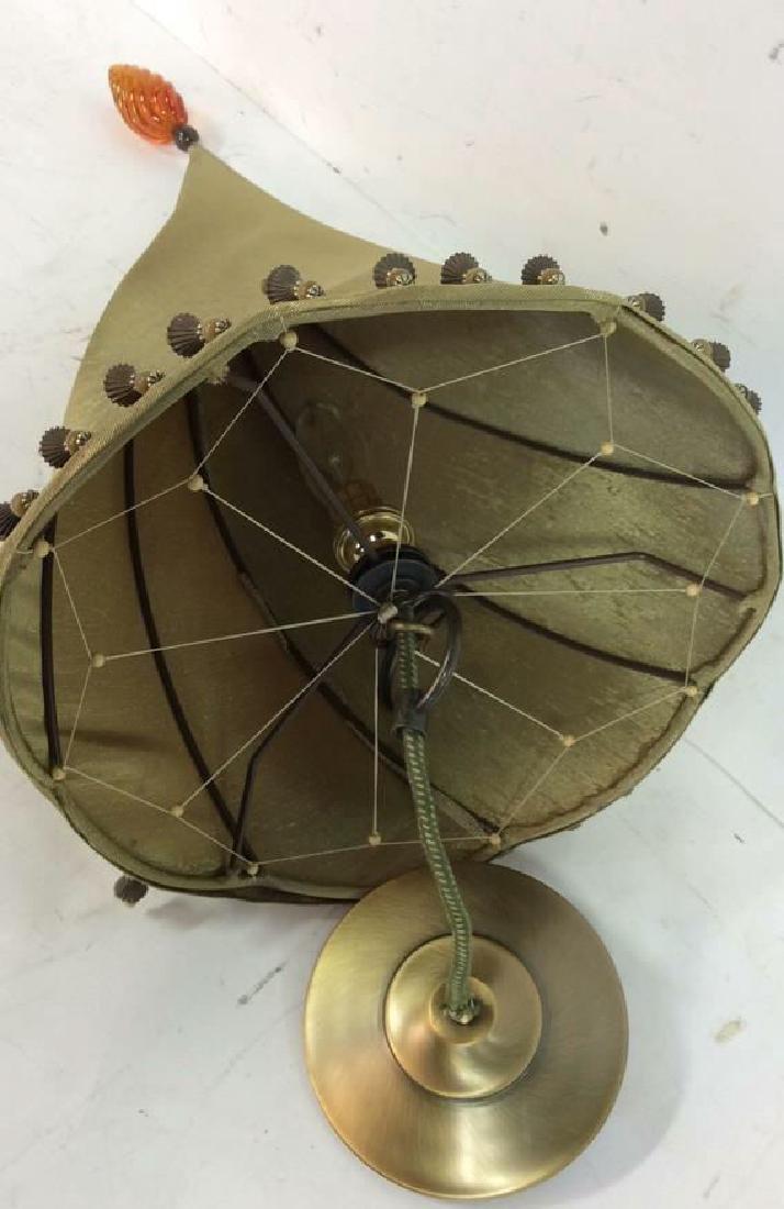 Gold Silk Cone Ceiling Light - 2