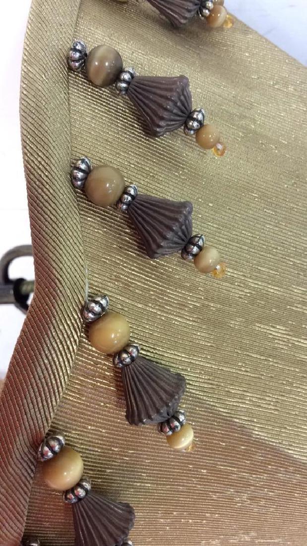 Gold Silk Cone Ceiling Light - 5