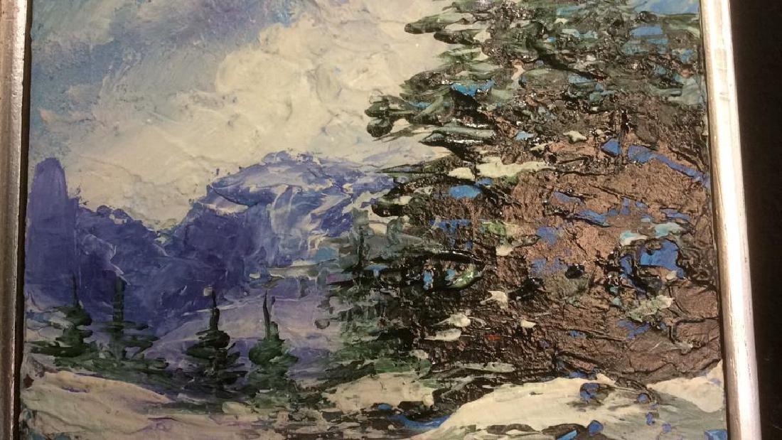 Group Paintings Signed Zaza Meuli Palette Knife - 4