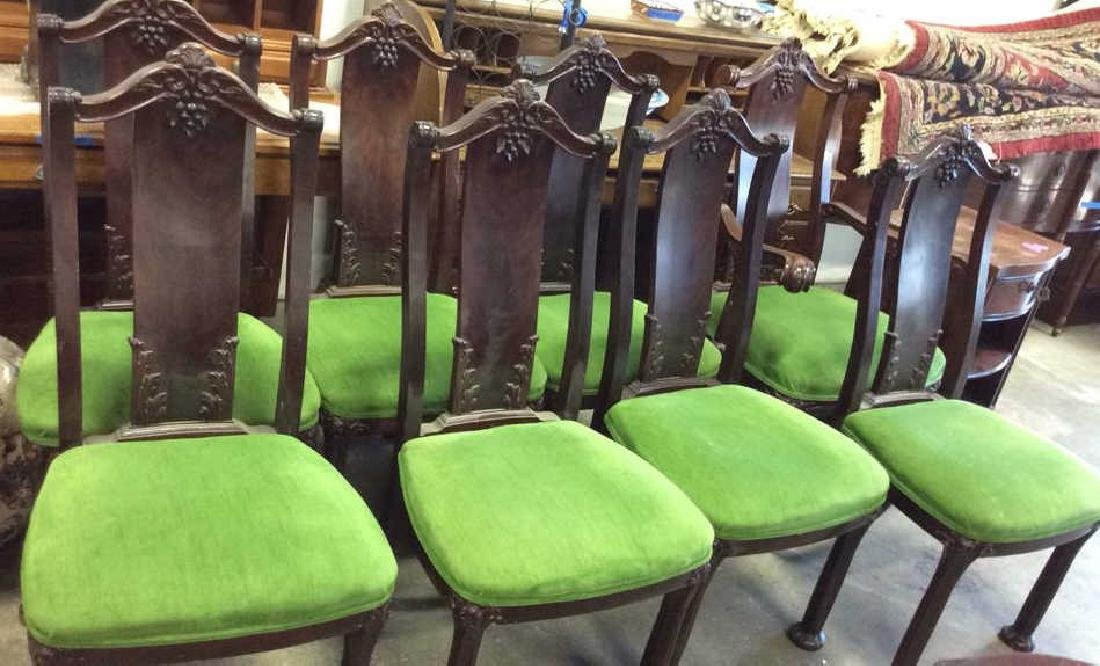 Set 8 Queen Anne Style Dining Chairs