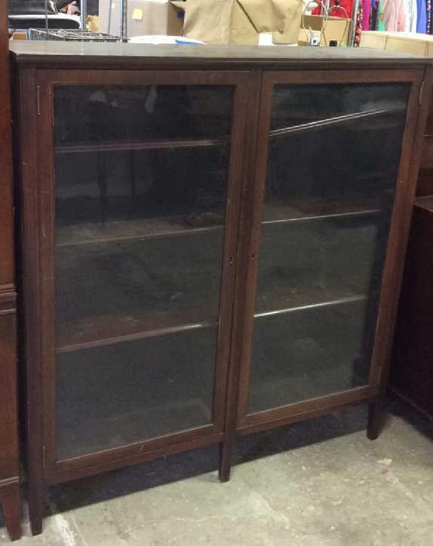 Vintage Mahogany 2 Door Glass Cabinet