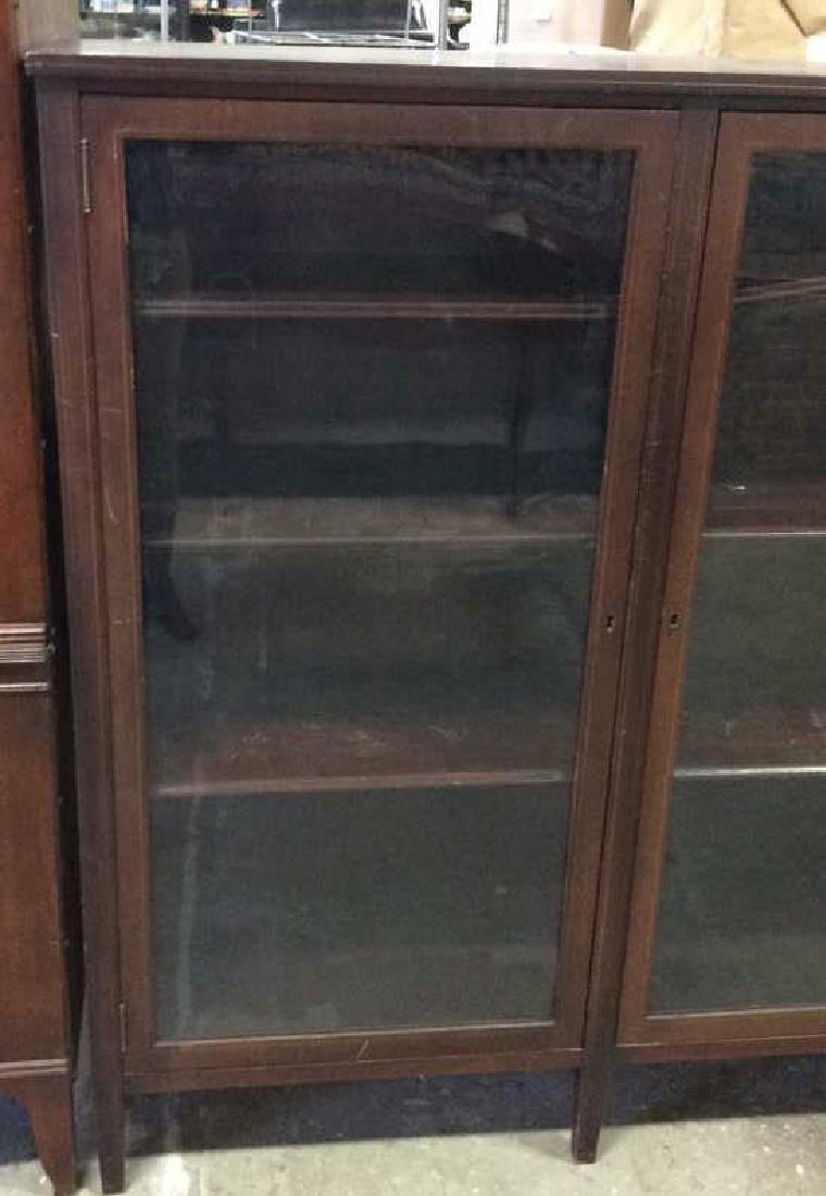 Vintage Mahogany 2 Door Glass Cabinet - 2