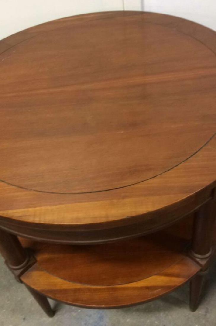 Pair  Circular Mahogany End TablesTables - 4