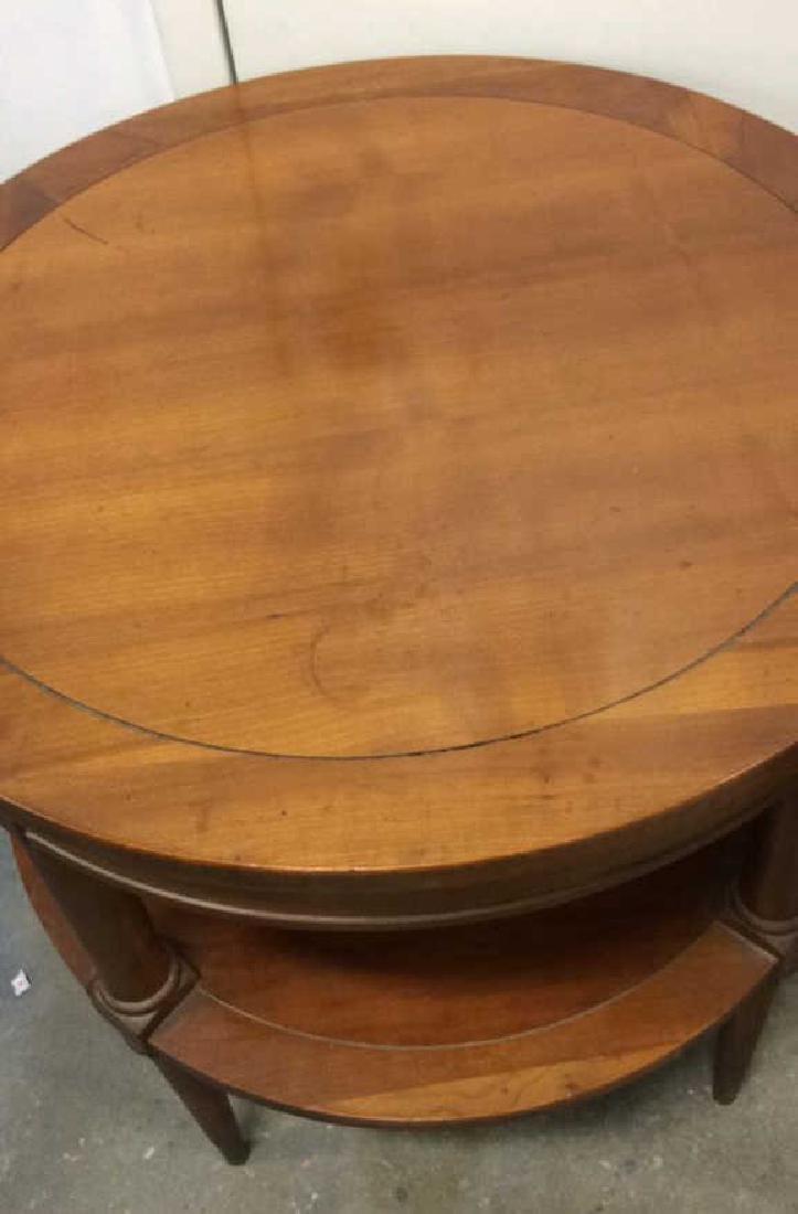 Pair  Circular Mahogany End TablesTables - 5