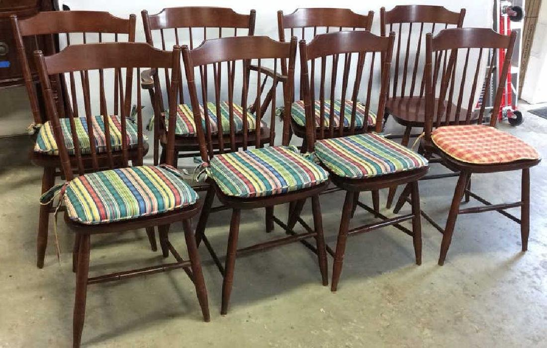 8 Set Hitchcock Mahogany Signed Dining Chairs