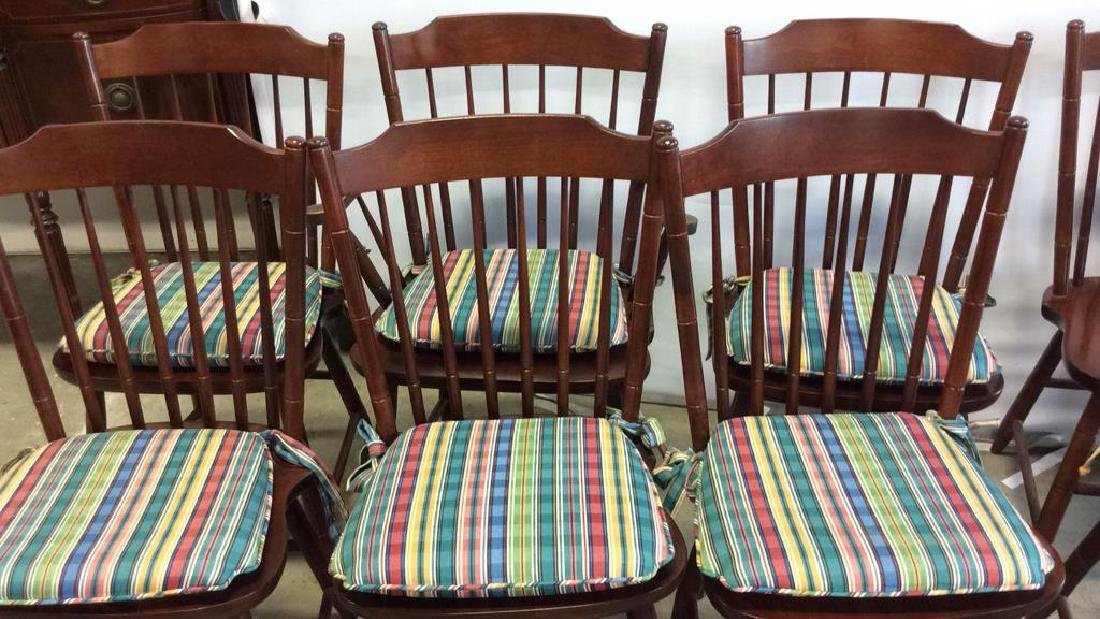 8 Set Hitchcock Mahogany Signed Dining Chairs - 2