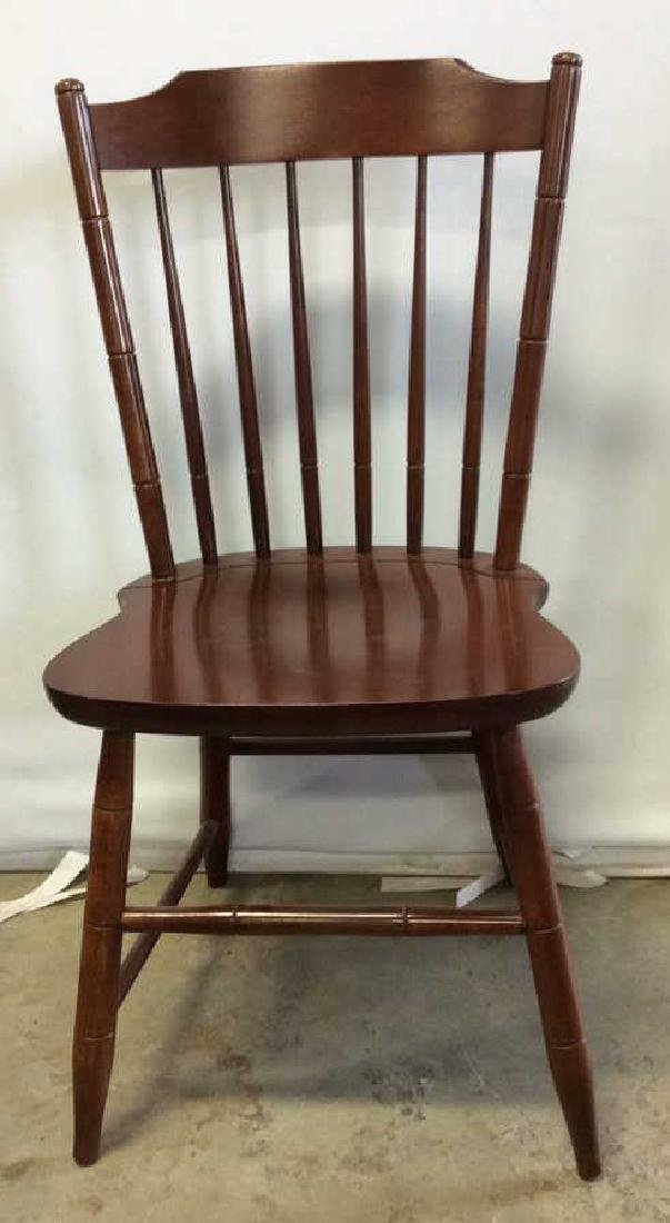 8 Set Hitchcock Mahogany Signed Dining Chairs - 4