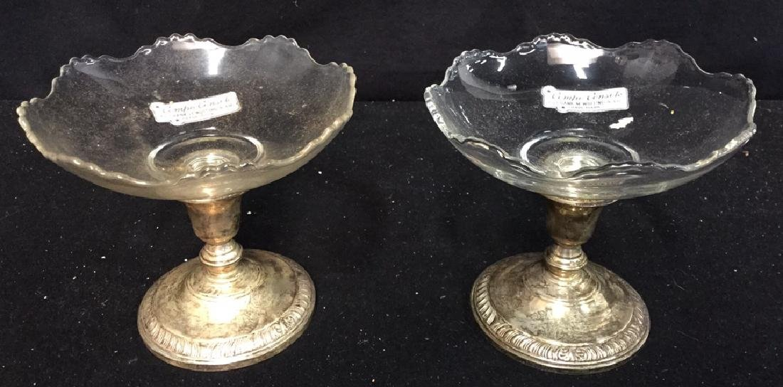 Sterling Silver Compote Pair By Frank M. Whiting