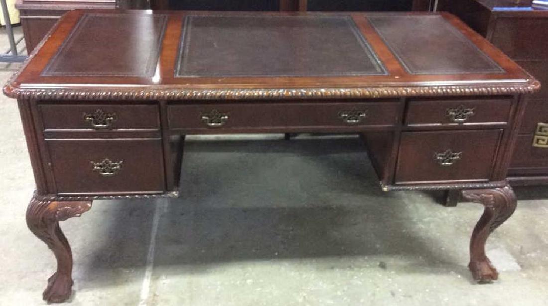 Hooker Furniture Carved Mahogany Desk
