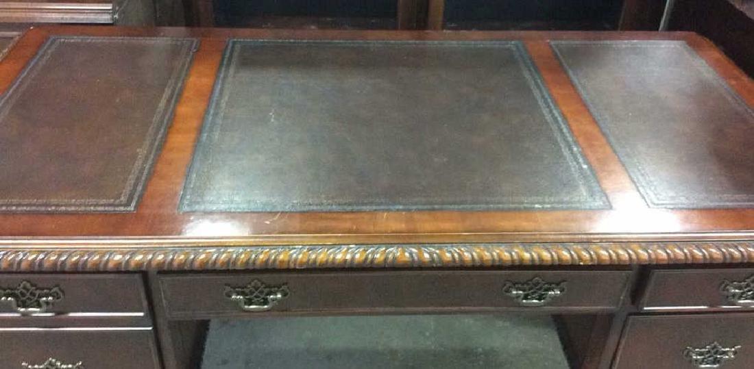 Hooker Furniture Carved Mahogany Desk - 2