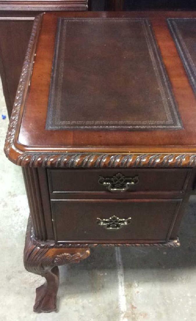 Hooker Furniture Carved Mahogany Desk - 3
