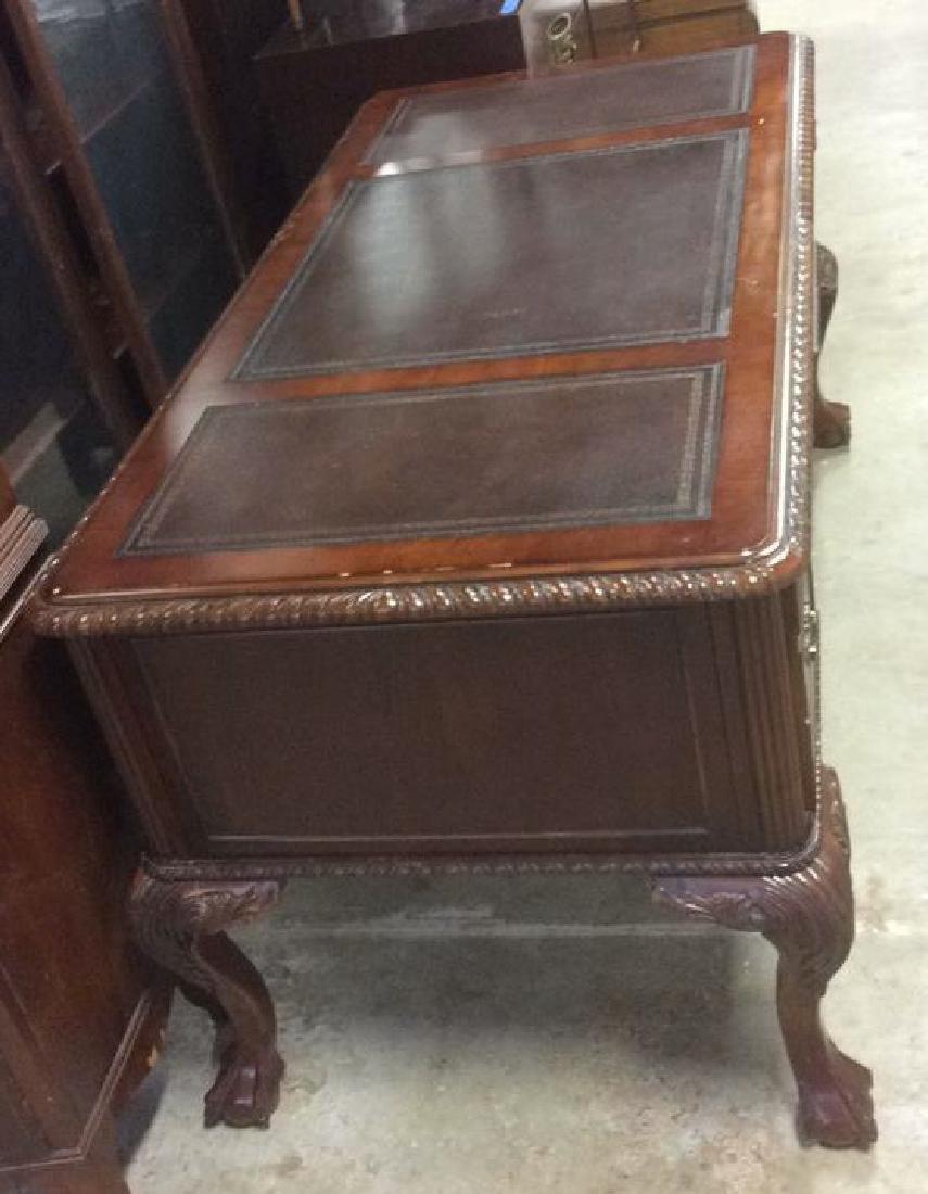 Hooker Furniture Carved Mahogany Desk - 4