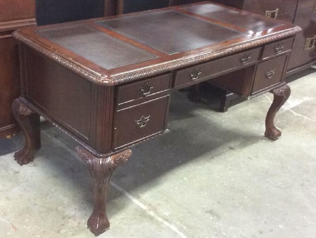 Hooker Furniture Carved Mahogany Desk - 5