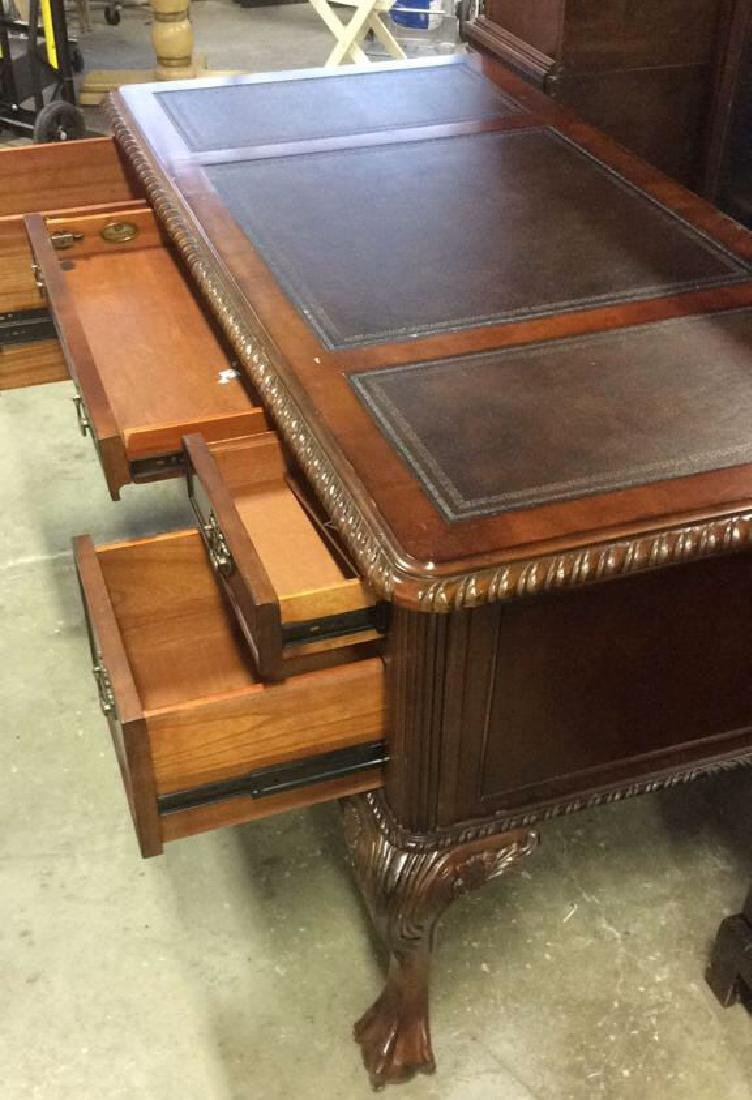 Hooker Furniture Carved Mahogany Desk - 7