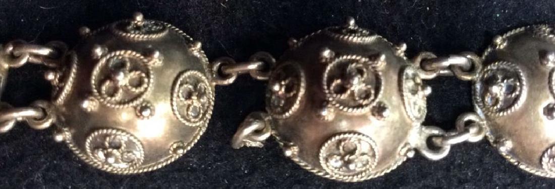 Period Victorian Silver Wash Bracelet - 4