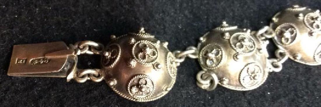 Period Victorian Silver Wash Bracelet - 5