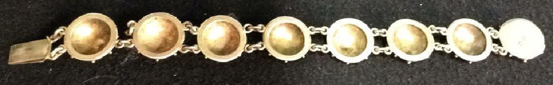 Period Victorian Silver Wash Bracelet - 6