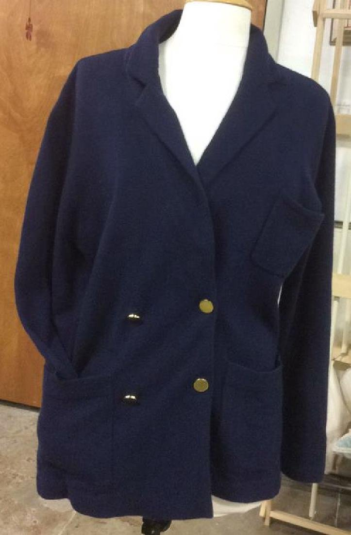 Women's Doublebreasted Navy Cashmere Cardigan