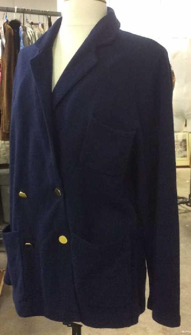 Women's Doublebreasted Navy Cashmere Cardigan - 2