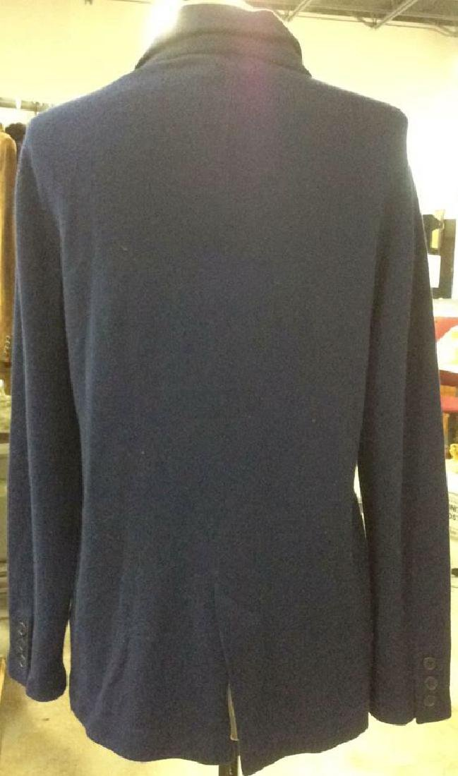 Women's Doublebreasted Navy Cashmere Cardigan - 3