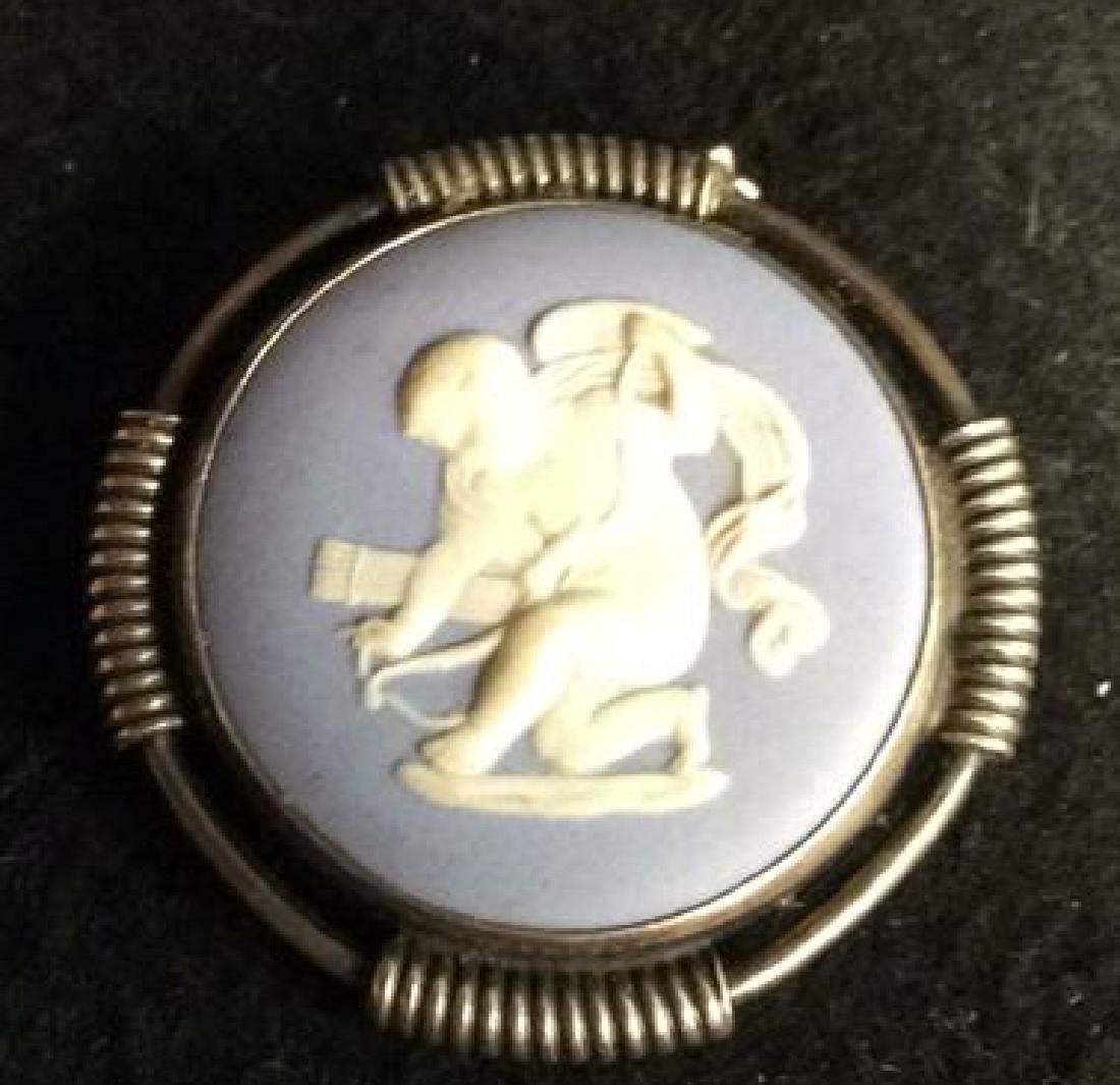 Wedgewood Medallion Set in Sterling Silver Pin - 2