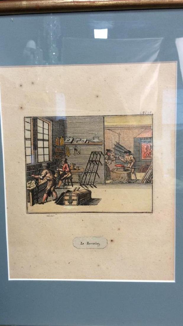 Antique Hand Colored French Engraving - 2