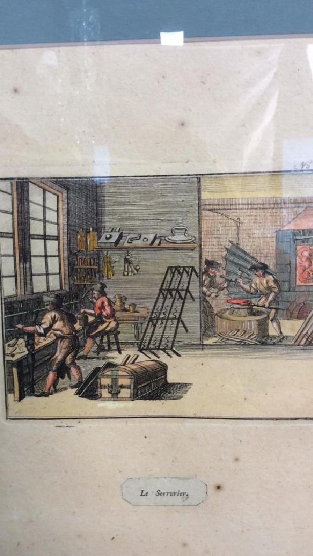 Antique Hand Colored French Engraving - 3