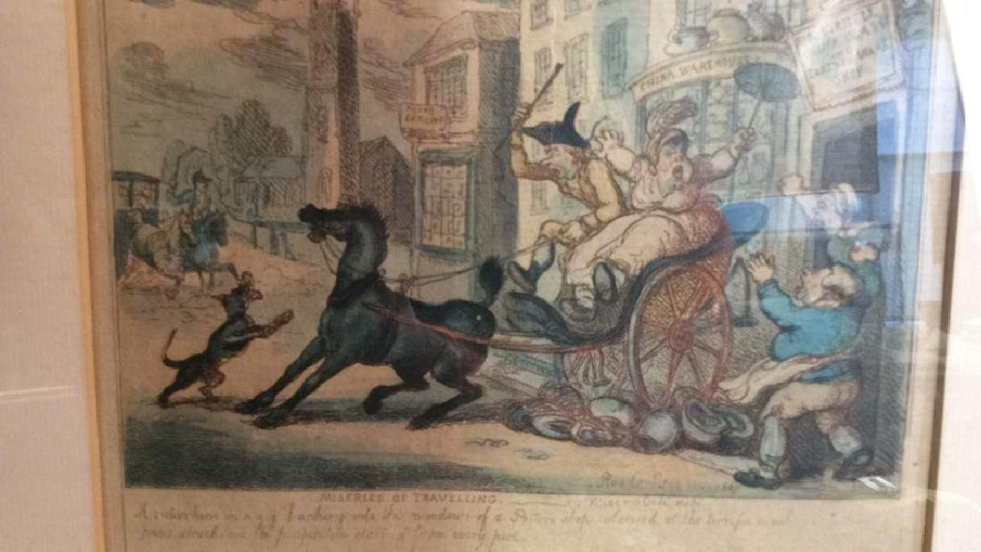 French 19th C hand Colored Engraving - 3