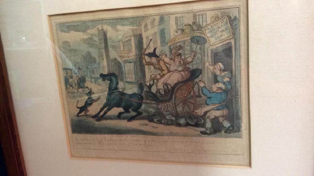 French 19th C hand Colored Engraving - 5
